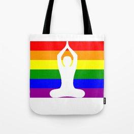 Gay Pride Rainbow Flag Yoga Shirt - Gift For Yoga Lovers Tote Bag