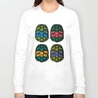 ninja turtles Long Sleeve T-shirts featuring ninja shells by tama-durden