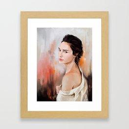 Gal Gadot Woder Woman Framed Art Print