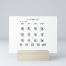 Psychoanalysis Word Search Mini Art Print