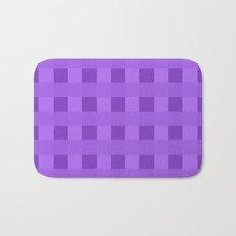 Retro Purple Squares Bath Mat