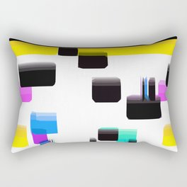 Black & Yellow  Rectangular Pillow