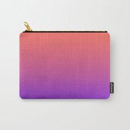 Gradient Ombre Living Coral Proton Purple Pattern Orange Peach Neon Ultra Violet Soft Trendy Texture Carry-All Pouch