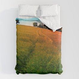 Waving fields of spring Comforters