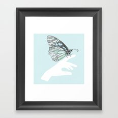 a friend in my hand 3 Framed Art Print