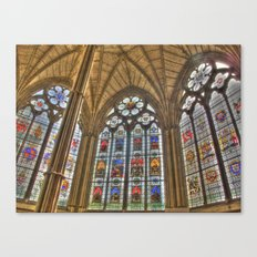 Windows of Westminster Abbey Canvas Print