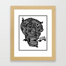 Skull N'Line Framed Art Print