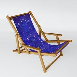 Fractal Galaxy Blues Sling Chair