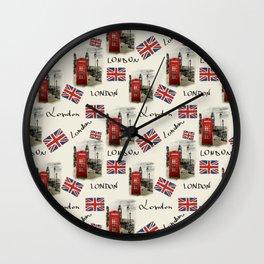 watercolor london Wall Clock