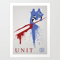 evangelion Art Prints featuring Evangelion Unit 00 by DaveBot