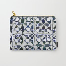 abstract tile in shade of blues Carry-All Pouch