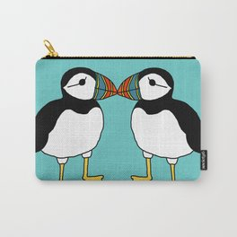 Kissing Puffins Carry-All Pouch