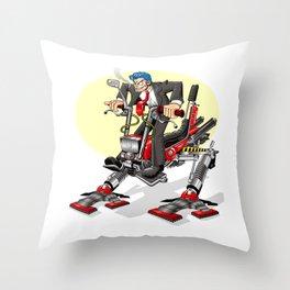 Man-ga in Black Throw Pillow