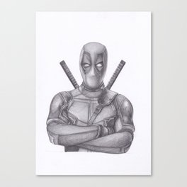 Dead pool Pencil drawing Canvas Print