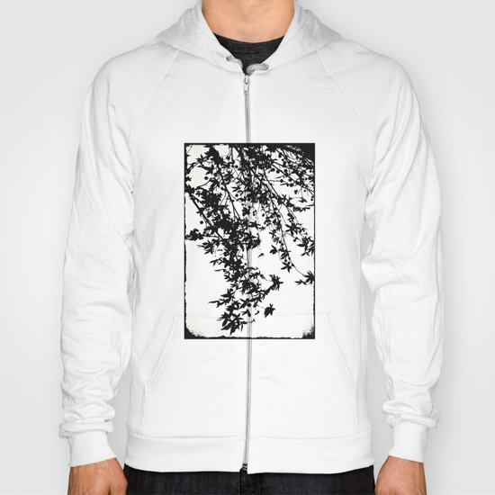 black on white Hoody