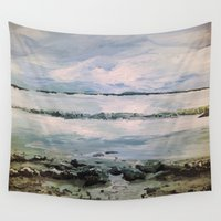 maine Wall Tapestries featuring Maine by Samantha Crepeau