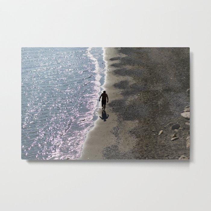 SEA MAN BEACH Metal Print