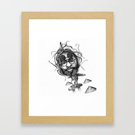 George Clinton x Marty Mcfly Framed Art Print