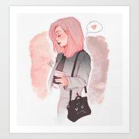 Coffee Luv Art Print