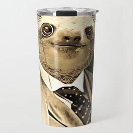 Gentleman Sloth with Monocle Travel Mug