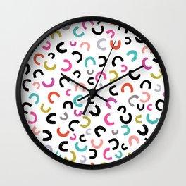 Half Full Luck Wall Clock