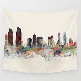 san diego california skyline Wall Tapestry