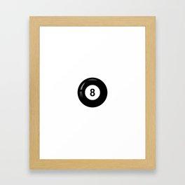 8 ball #society6 Framed Art Print