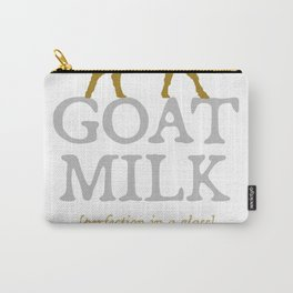 """Goat Milk: Perfection"" - dairy farmer raw goat milk t-shirt Carry-All Pouch"