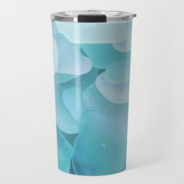Sea Glass Ocean Blue Travel Mug