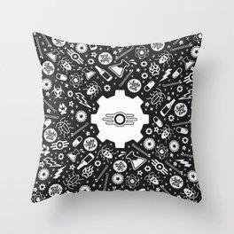 Vault Tec Kaleidoscope Throw Pillow