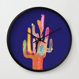 cactus colorful 9 Wall Clock