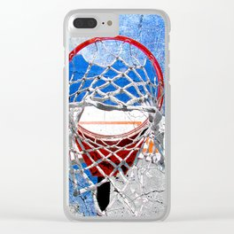 Contemporary basketball 3 Clear iPhone Case