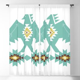 Native American Indian Tribal Eagle Bird Pattern Blackout Curtain