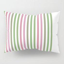 Pink Roses in Anzures 4 Stripes 1V Pillow Sham