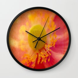 Textured Japanese Anemone Wall Clock