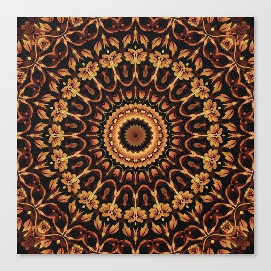Autum Colors Mandala Canvas Print