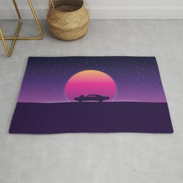 80s Retro Muscle Car Rug