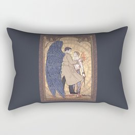 Angelic Intervention (Dean Winchester is Saved) Rectangular Pillow
