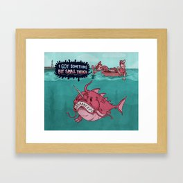 The One That Should of got Away Framed Art Print