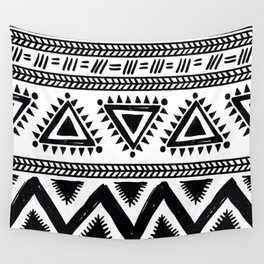 Tribal black and white Wall Tapestry