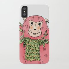 Peachtree The Chimp in Red iPhone X Slim Case