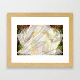 Yellow Swirls Framed Art Print