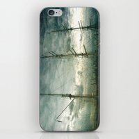 sailboat iPhone & iPod Skins featuring Sailboat by Fine2art