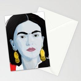 Frida White Background Stationery Cards