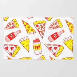 Pop N Pizza Pattern Rug