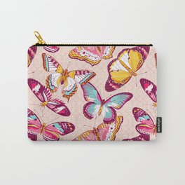 Aflutter in Blush Carry-All Pouch