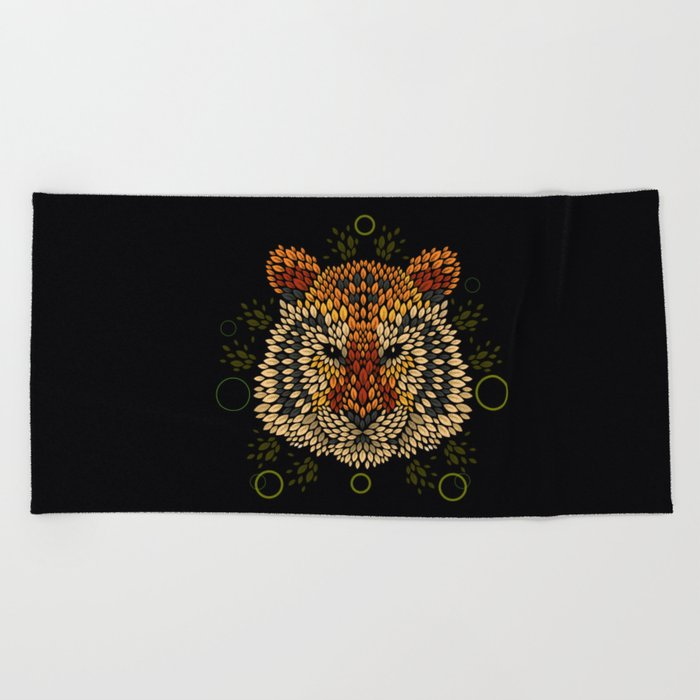 Tiger Face Beach Towel