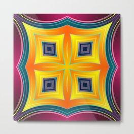 Rainbow Diamond Abstract SB81 Metal Print