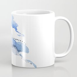 Slither: delicate shades and patterns of blue Coffee Mug