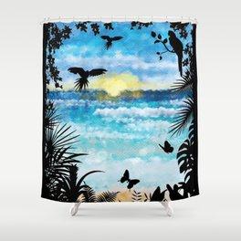 Cave Ocean View Shower Curtain